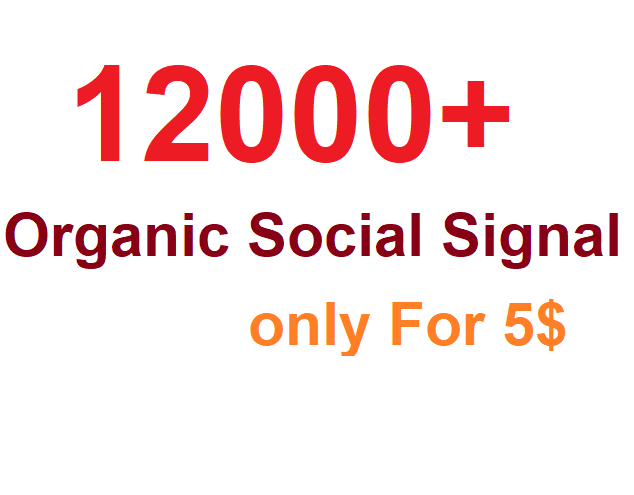 Monster Pack OF 12000+ Organic PR Social signal From world Best social media sites