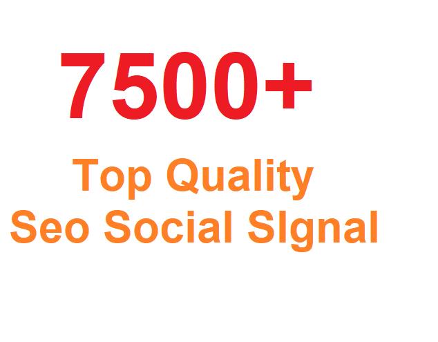Most Successful 7500+ Seo Social SIgnal From Top 3 social Media sites