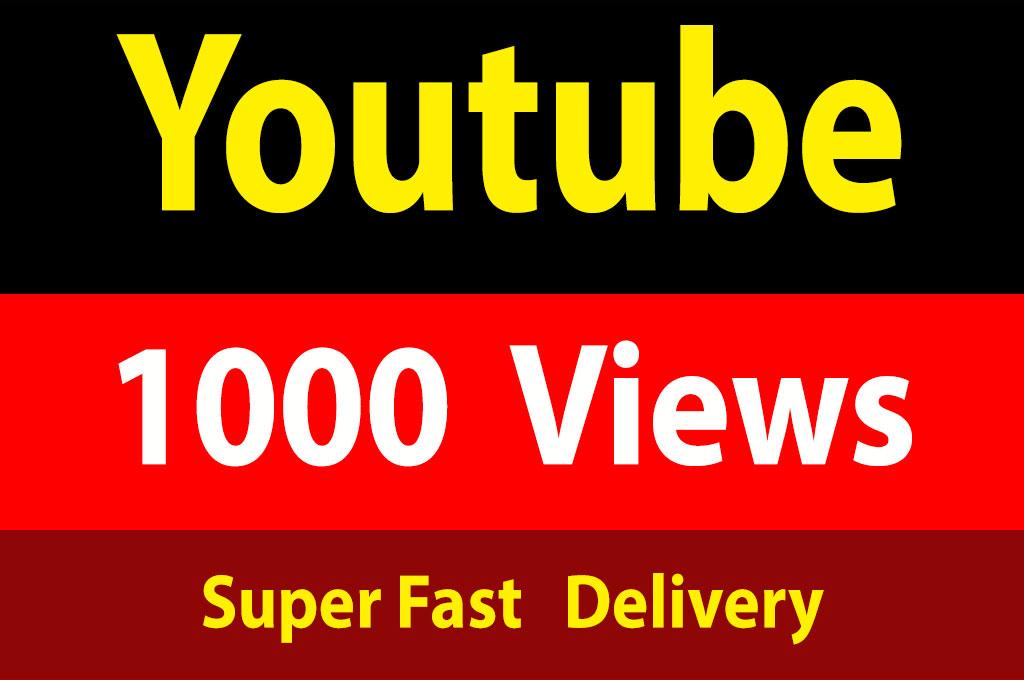 instant 1000 Vieews Lifetime Guarantee, Non Drops