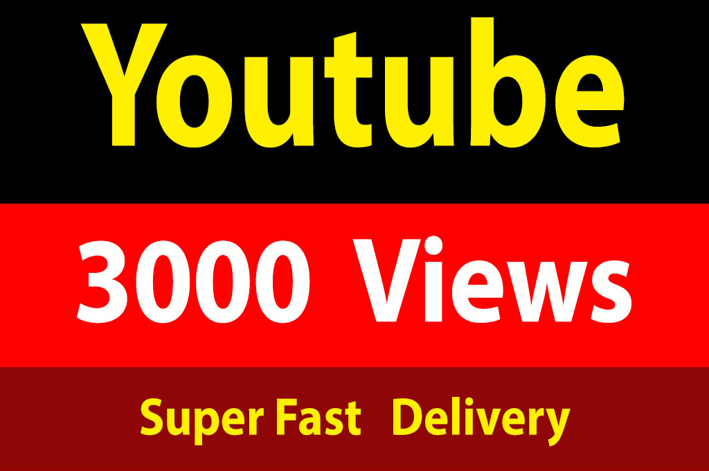 instant 3000 To 4000 Youtube Vieews 30 Days Refill Guarantee