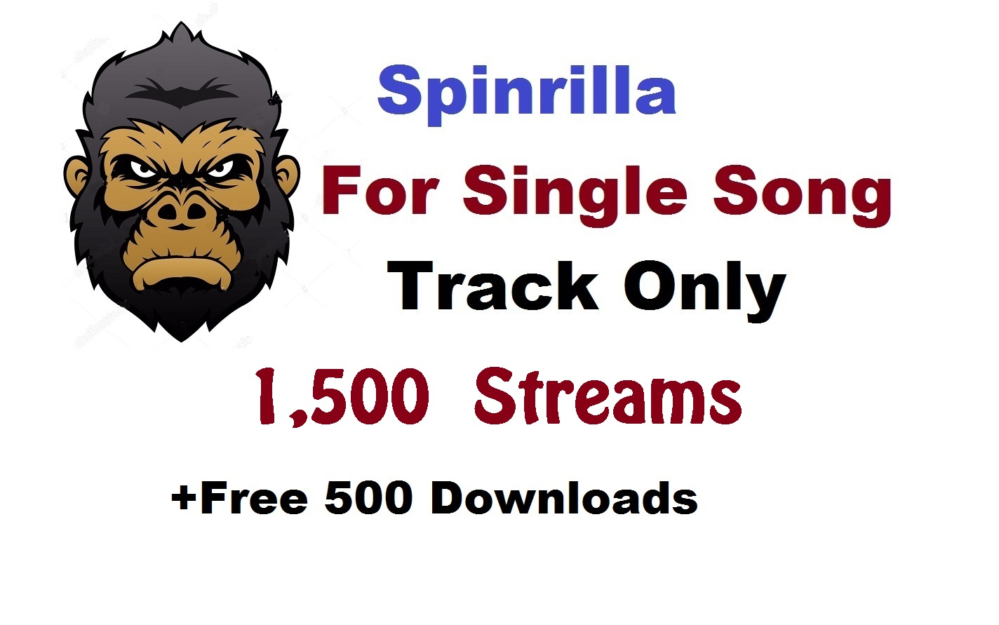 Single 2,000 play + 500 download for single track son...