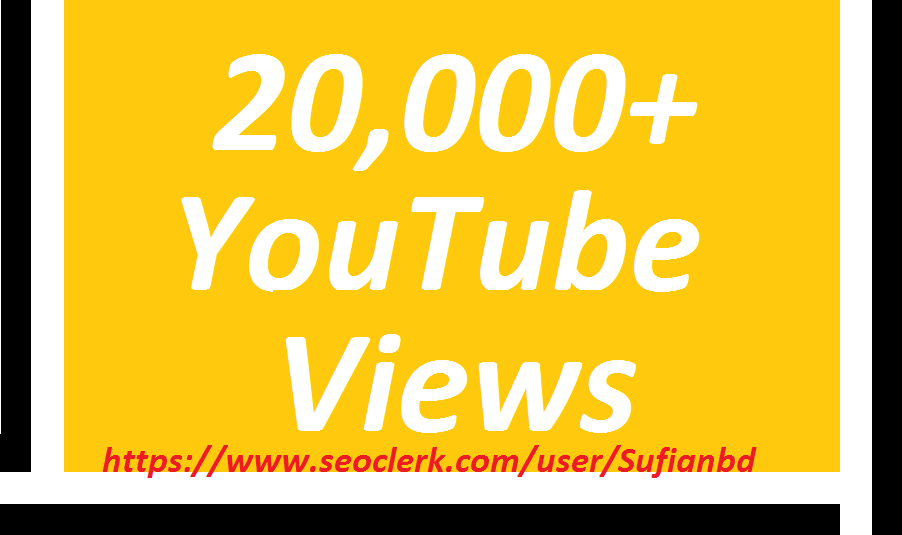 Happy new year offer 20,000YouTube  Views super fast delivery
