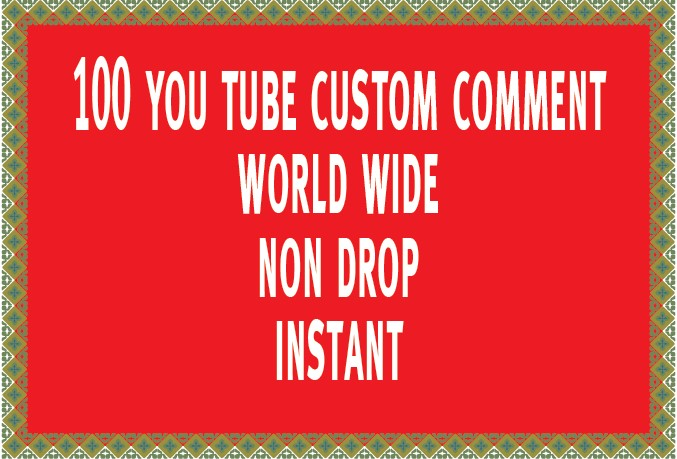 20 High Quality Custom Comment Instant