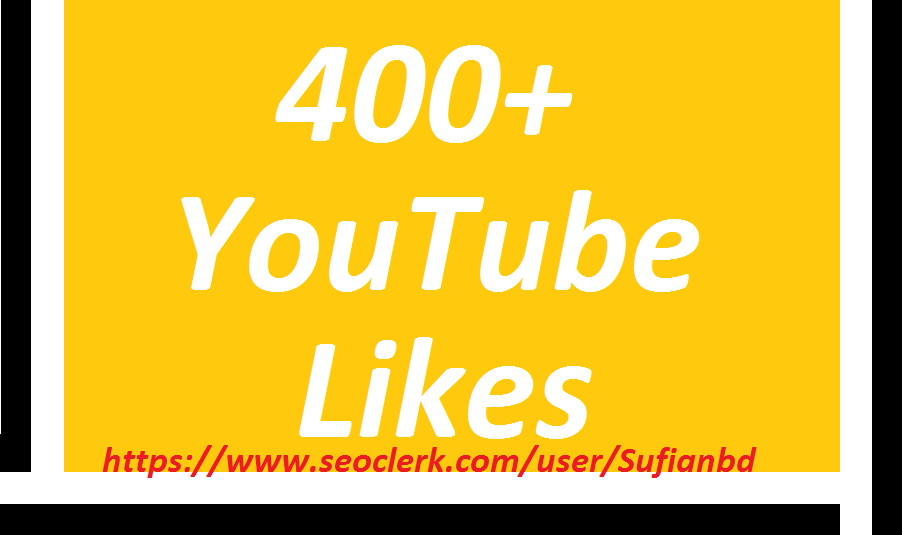 Happy new year offer 400 +You Tube likes super fast delivery