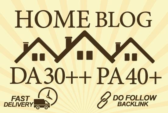 make guest post on da 50 quality home blog