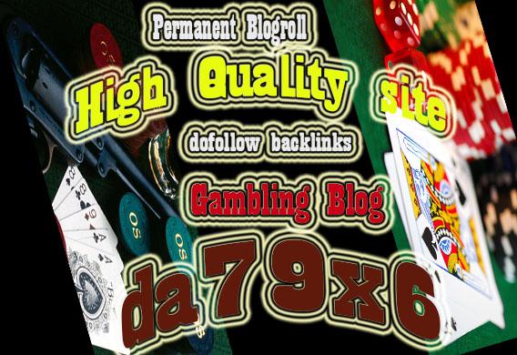 give link DA 75 x6 site gambling blogroll permanent