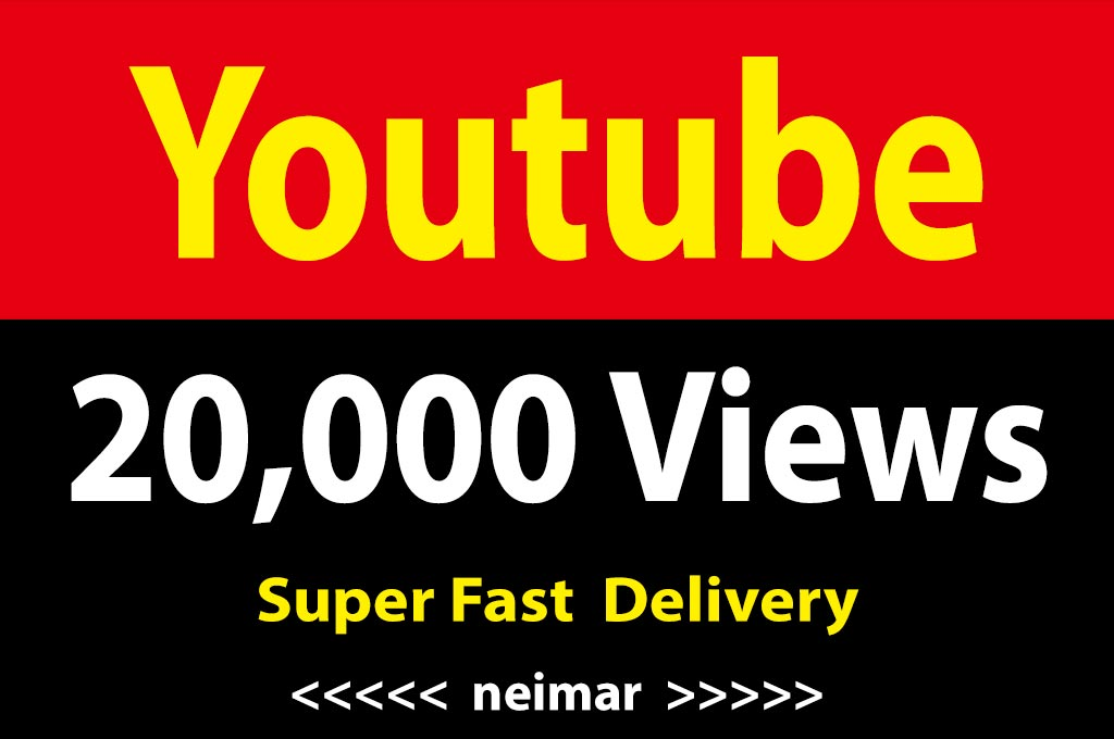 instant 20,000 / 20k Vieews Lifetime Non Drop Guarantee Super Fast Delivery