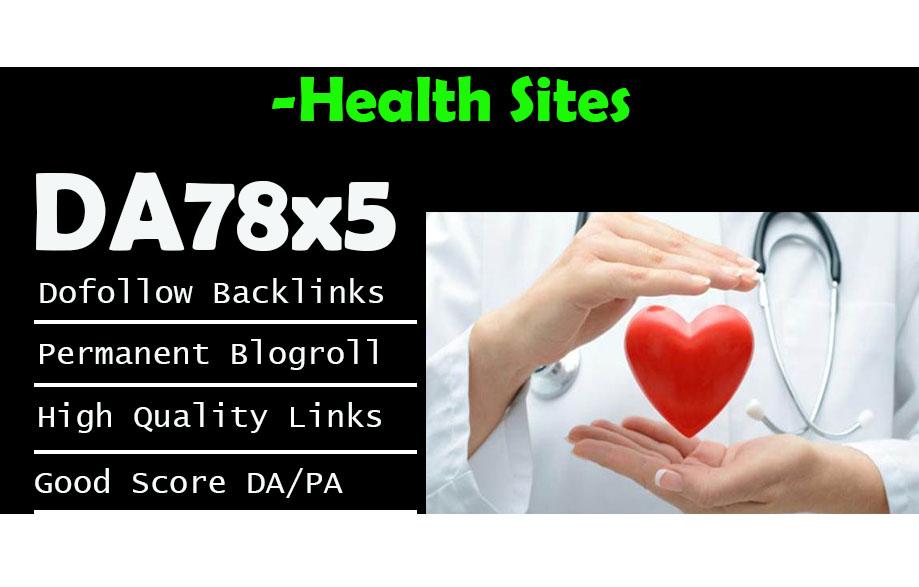 Give Link Da78x5 Health Site Blogroll Permanent