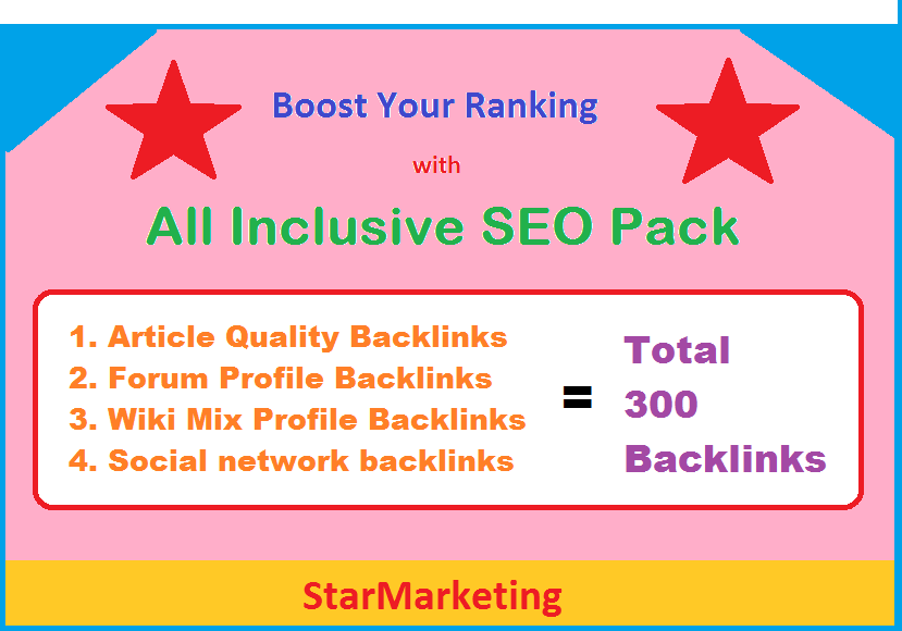 Boost Google rank with all inclusive SEO pack - Article, Forum, Wiki, Social network backlinks