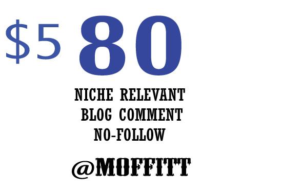 Provide 80 Niche Related Blog Comment Backlink