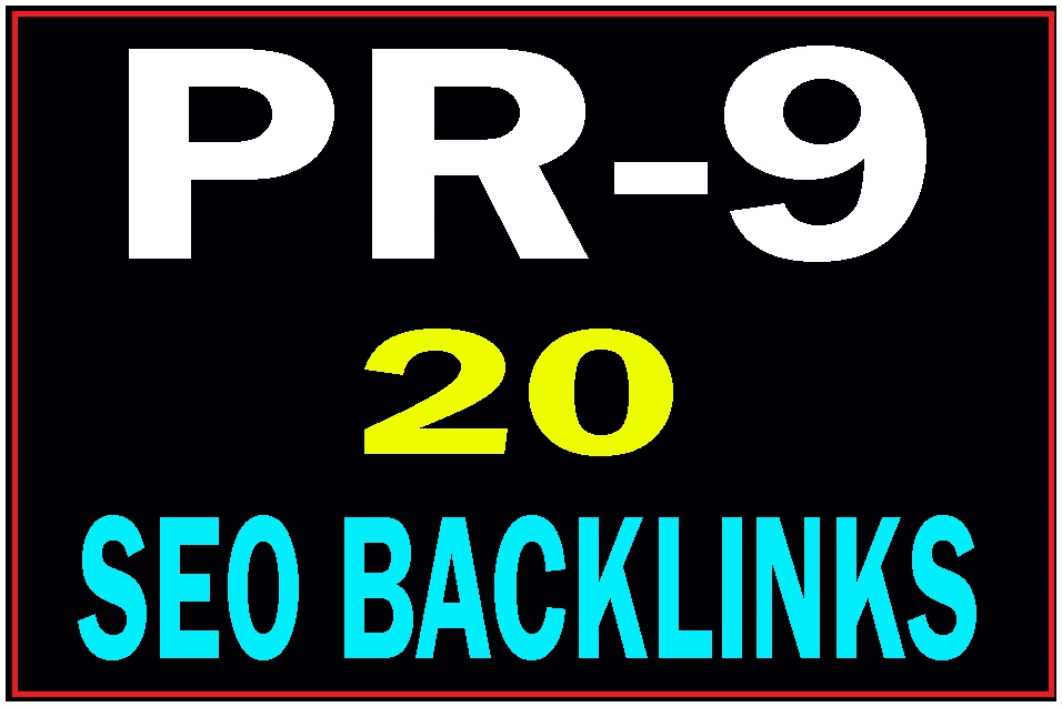 20 Pr9 DA 80+ Manually created high PR safe seo backlinks