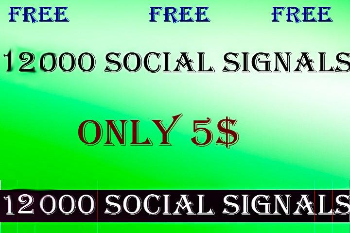12000 Social Signals Free