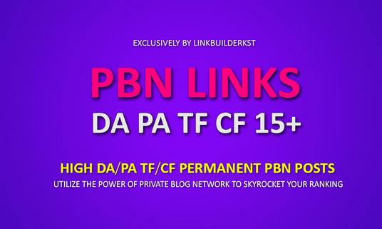 Provide 10 PBN High PA/DA High Quality Powerfull PBN Backlinks For Your Website Ranking