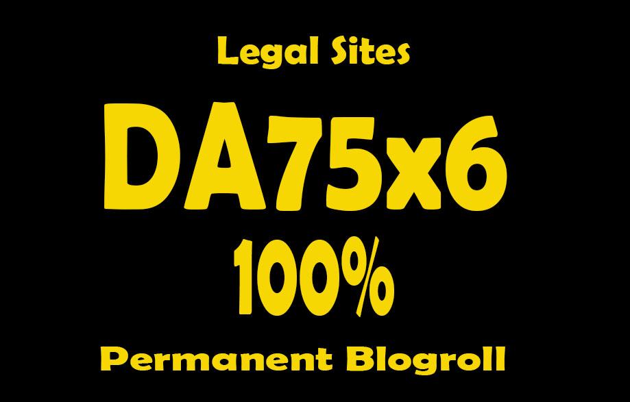Give Link Da75x6 site Legal Blogroll Permanent
