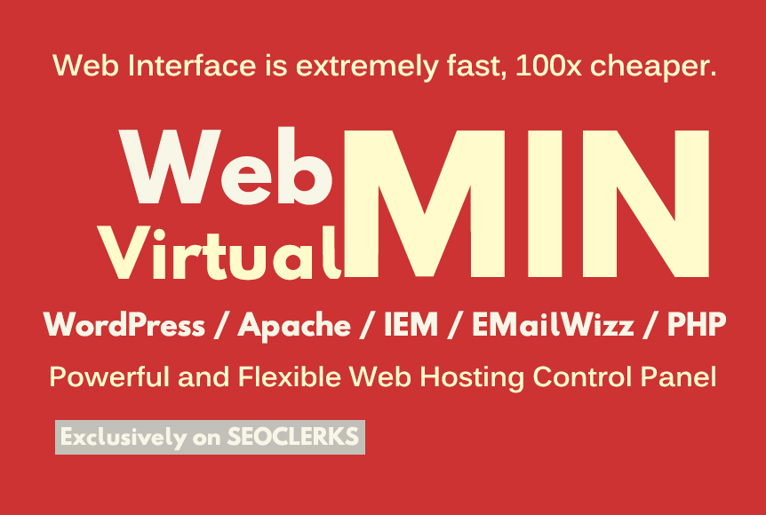 install virtualmin and webmin on your vps or dedicate...