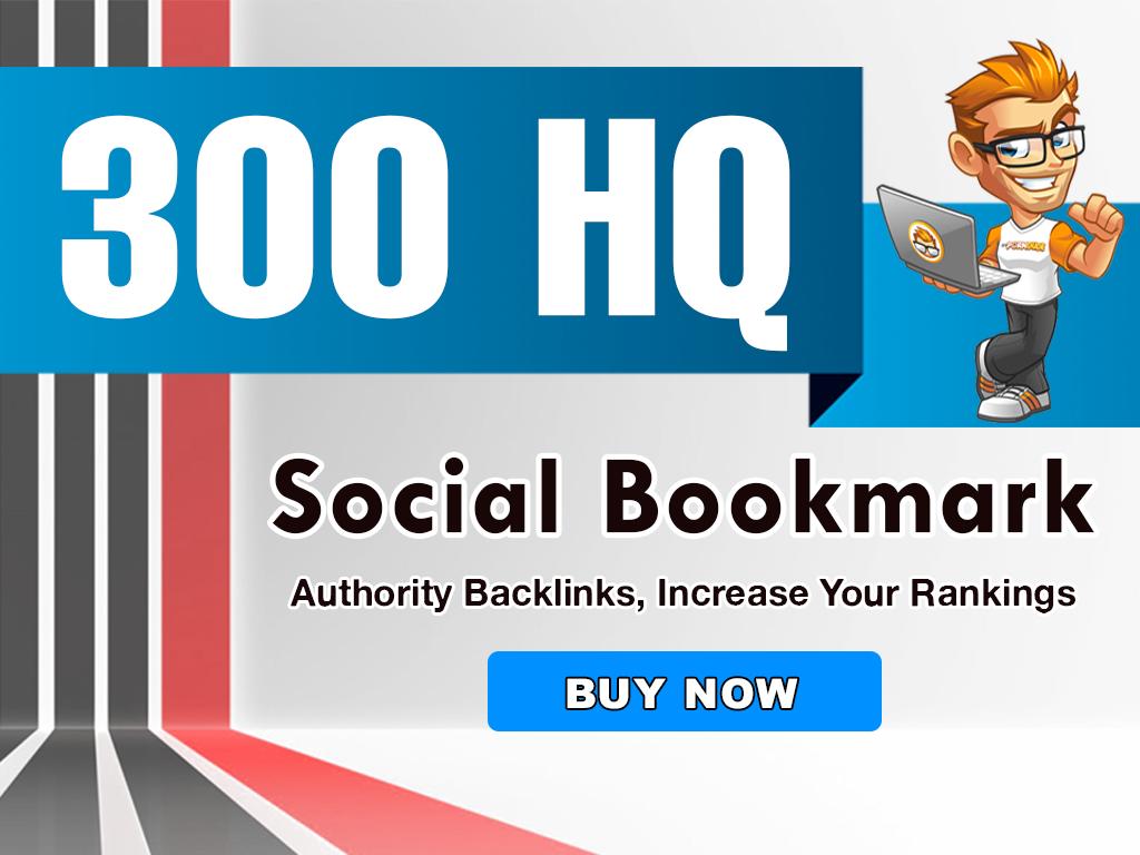 300+ social bookmarking & 20+. EDU/. GOV,  High Authority Backlinks EFFECTIVE + MANUALLY