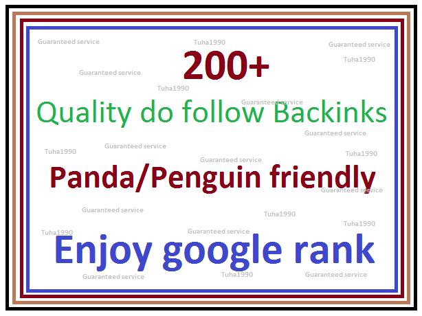 enjoy google rank by 200+ Quality do follow Backlinks -create Web 2.0 Profile,  PR9 to PR5
