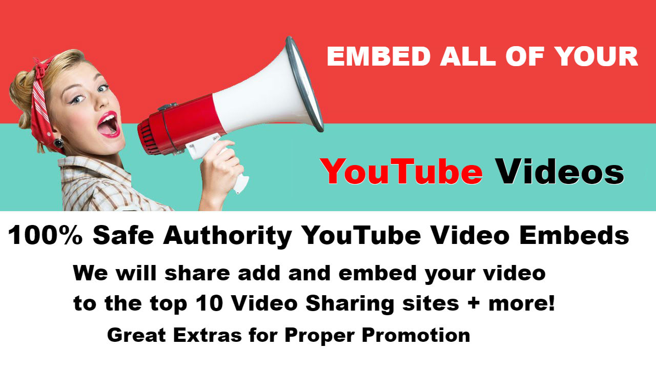 Embed Your YouTube Video to Top 10 Video Sharing Sites + More