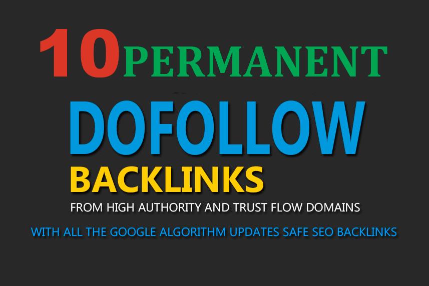 10 DOFOLLOW profile Backlinks DA 40+