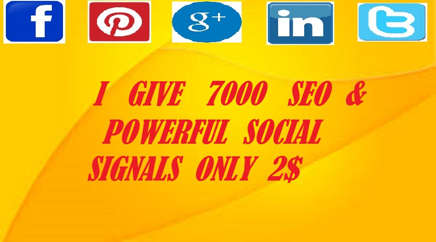 We do  best service 7000 powerful SEO  social signals