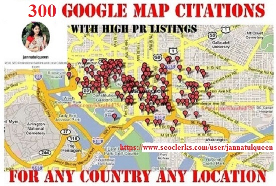 300 Google Map Citations With High DA PA Citation local Aaa SEO Listing