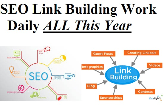 SEO Link Building Daily All the YEAR 365 Days work !