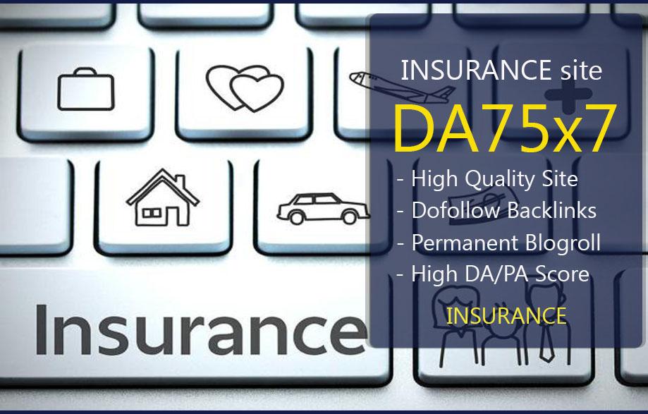 Give Link Da75x7 Site INSURANCE Blogroll Permanent