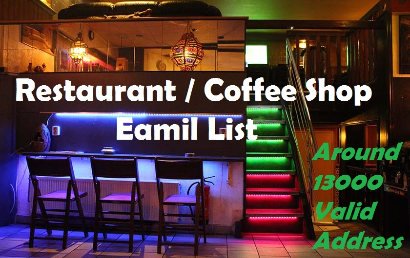 Restaurant / Coffee Shop Email List / Email Database USA
