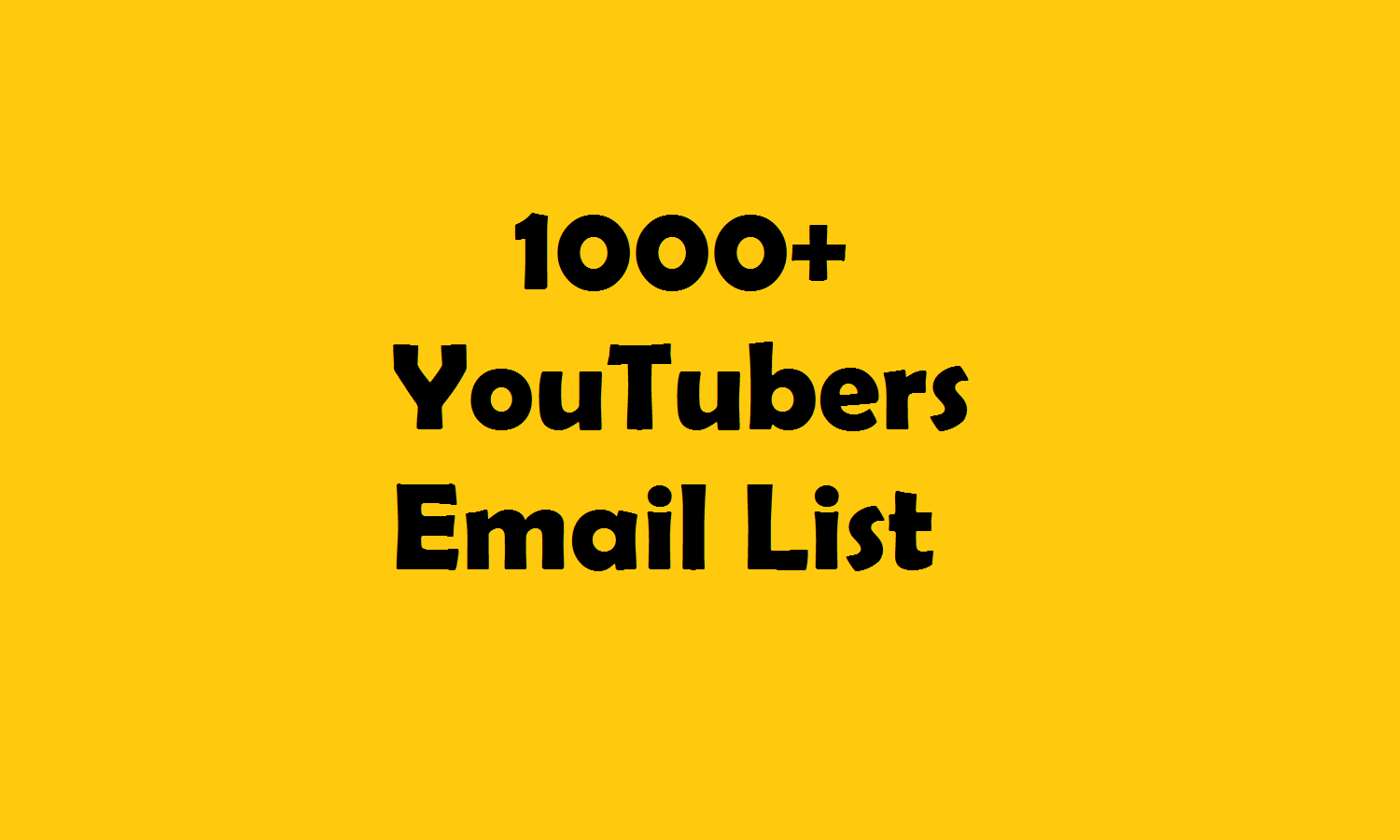 Top YouTubers list/ Email List / Contact List in Gaming Industry