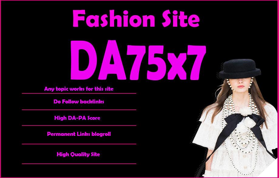 Give Your Backlink On Da75x7 Fashion Blogroll Dofollow