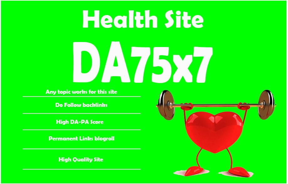 Give Link Da75x7 Site HEALTH Blogroll Permanent