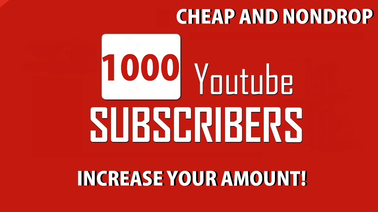 1000+ Y0UTUBE Subscri'bers High Quality Active Non drop Guaranteed