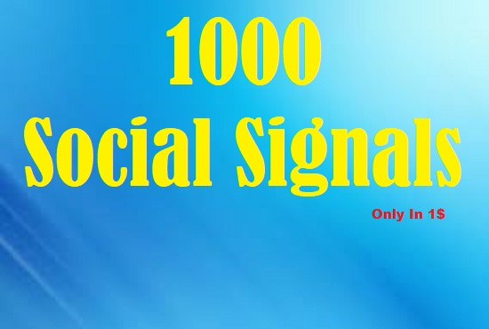 Viral Your Website Through 1000 Social Signals & Social Share