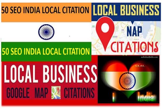 Create 50 Live Local Citation For India