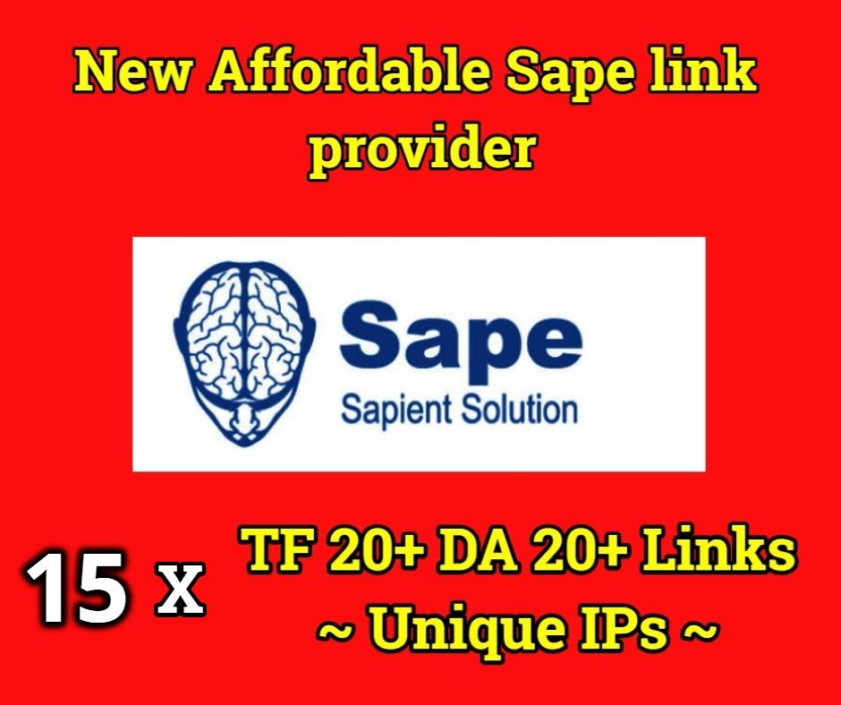 POWERFUL 15x TF 20+ DA 20+ ZERO Spam Sape Links