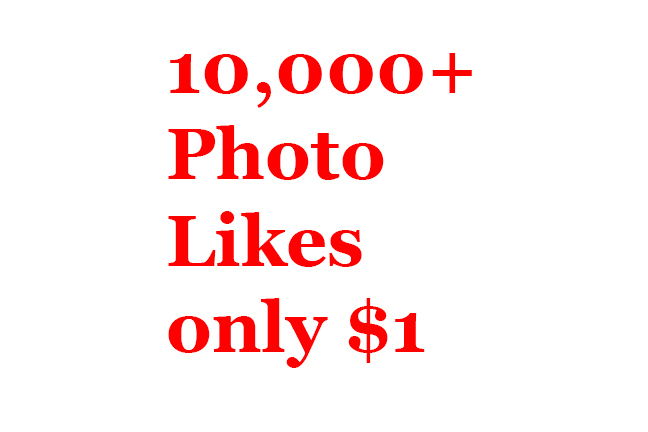 Buy real active non drop 10000+ Photo Likes or 50000+ Video Views