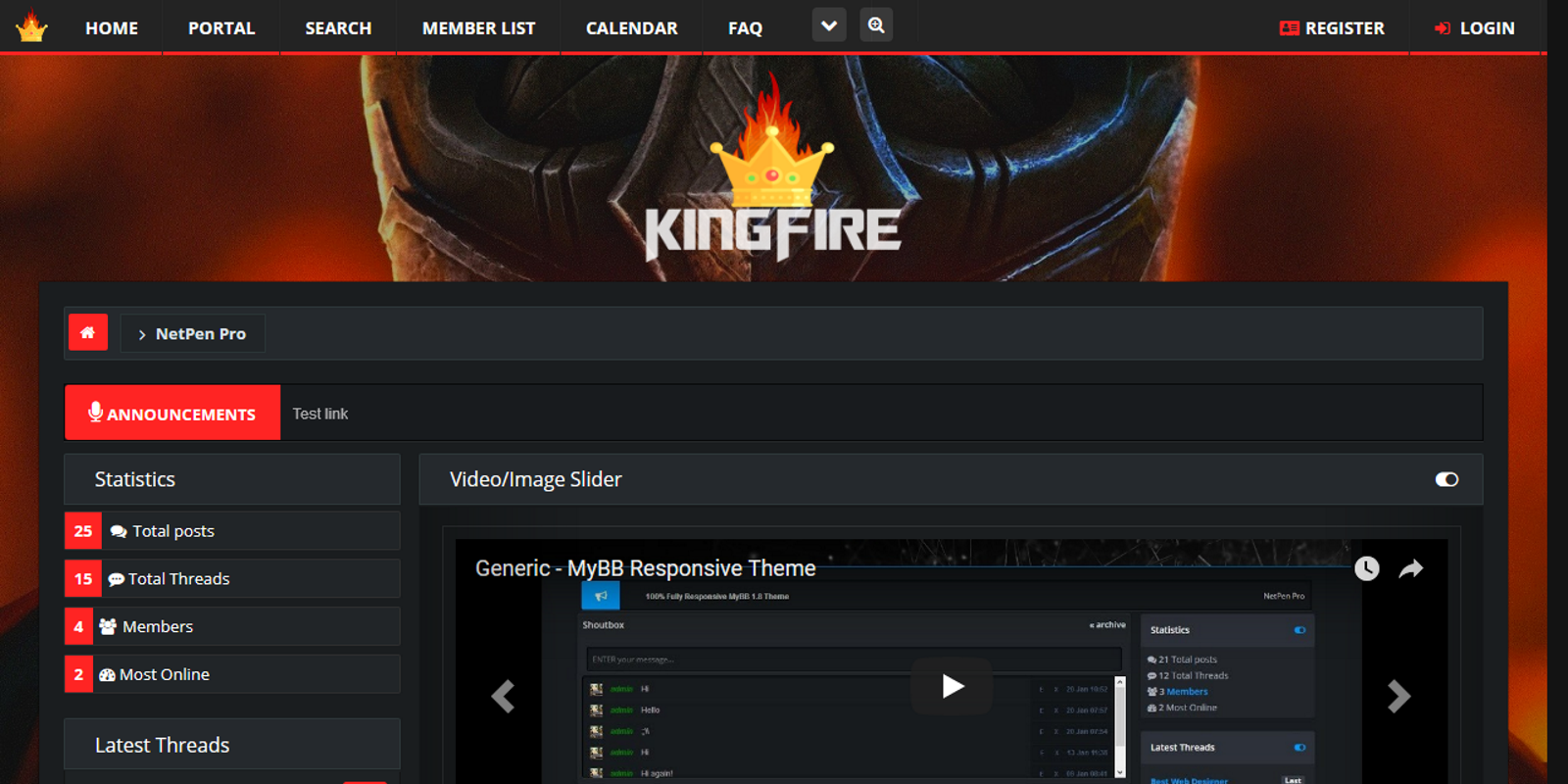 KingFire, Responsive MyBB 1.8 Theme Theme