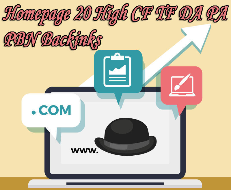 Google 1 Page with High DA PA CF TF 90 Permanent Homepage PBN Backlinks and 3000 2nd Tire backlinks