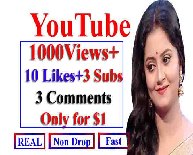 Instant Y0utube 1000-2000 V_iews+ 6 Llkes+ 6 Commts+ 6 Subs
