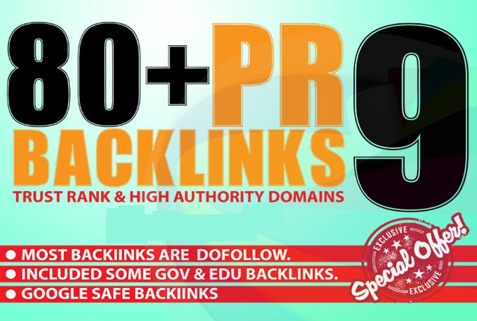 Create 80+ High Page Rank Pr DA 60-100 Google Safe Seo Backlinks Pr9 Traffic Links