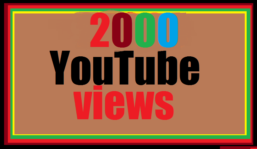 Limited offer 2000  YouTube    non drop 12-24 hours in complete