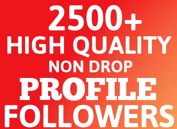ADD Fast 2500 FOLLOWERS Highly Quality Social SEO Service for Your ACCOUNT Increase your Popularity and Business