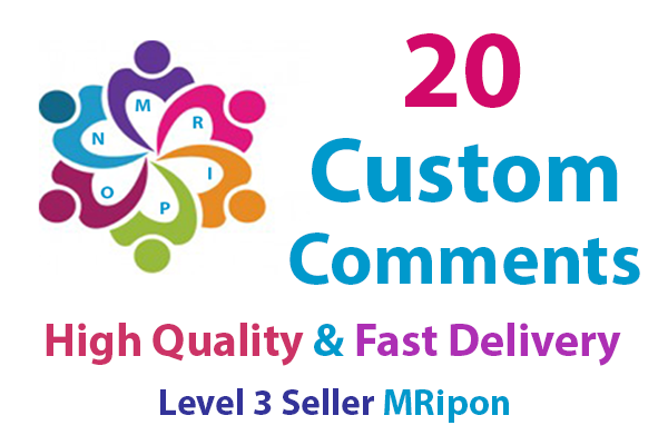 Get Instant 20 High Quality Social Photo Post Custom Comments