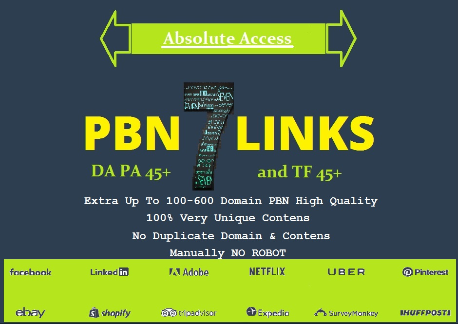 Absolutly 7 PBN Links - DA 45+ TF 45+