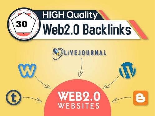 Make 25 High Qualiy Web 2.0 Backlinks For Your Site
