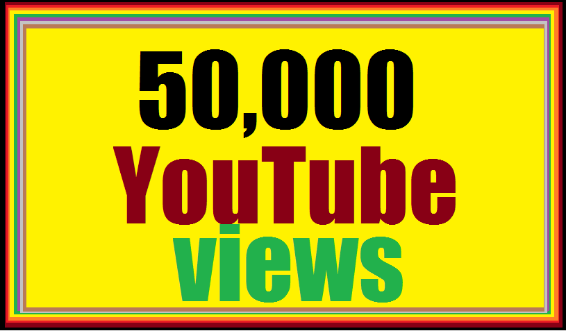 Limited offer 50k or 50,000  YouTube non drop very fast delivery 12-24 hours in completed