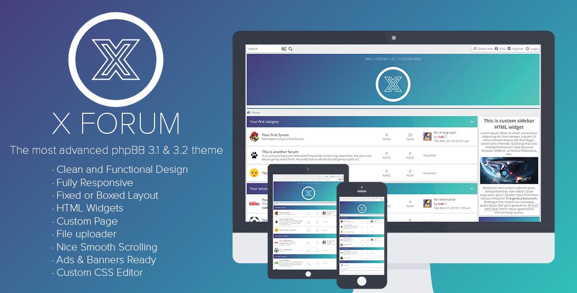 X Forum - Most Advanced Multipurpose Premium phpBB 3.1 & 3.2 Theme