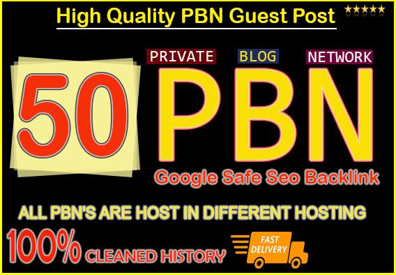 create 50 permanent pbn post,  powerful pbn links
