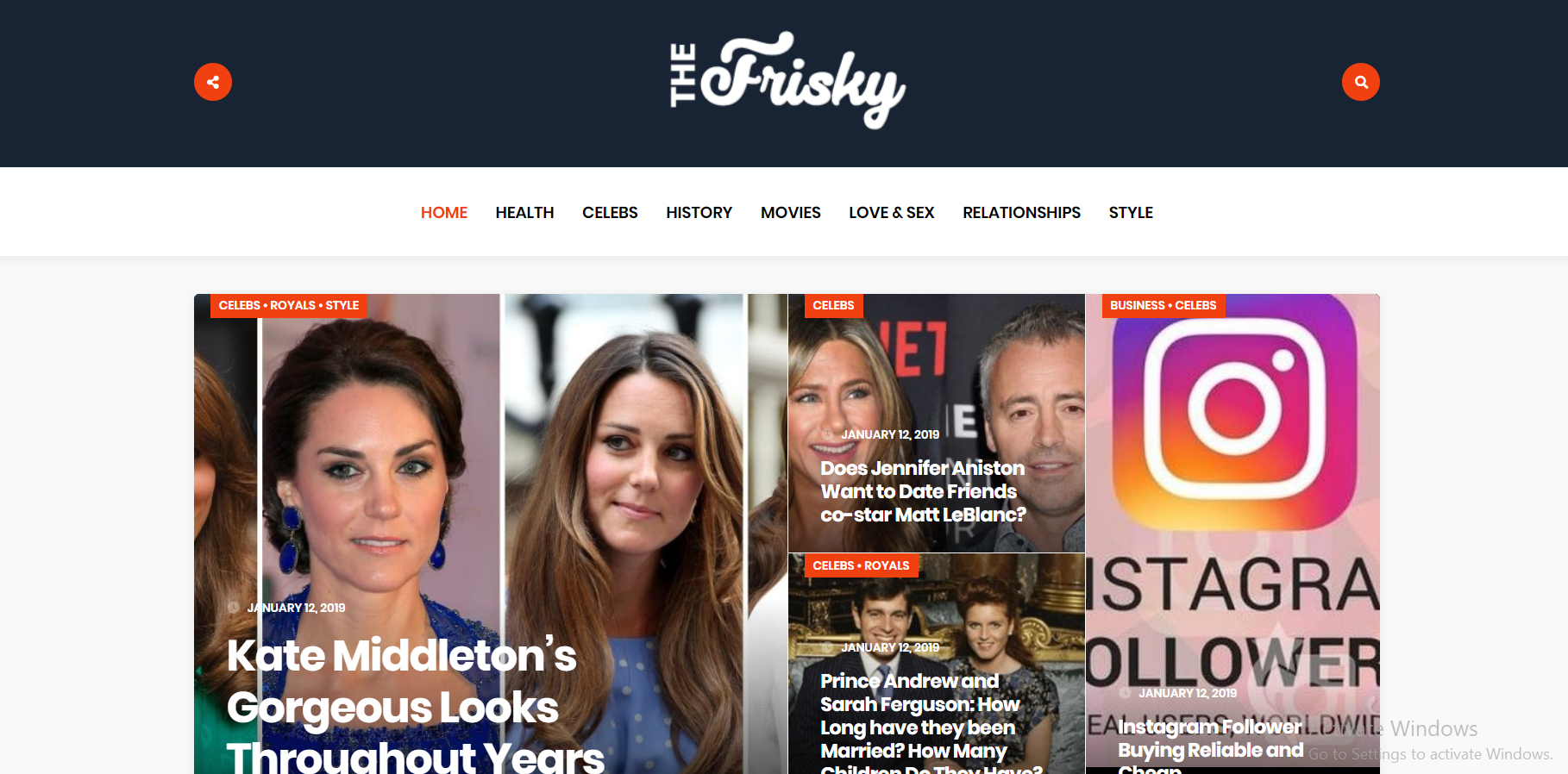 Publish a guest post for you on Thefrisky. com