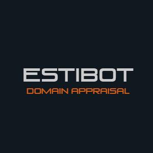 Estibot appraisal for your domain names